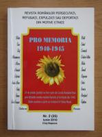 Anticariat: Revista Pro Memoria, nr. 2, iunie 2010