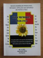 Anticariat: Revista Pro Memoria, nr. 4, decembrie 2010