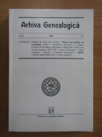 Anticariat: Arhiva Genealogica, anul V, nr. 1-2, 1998