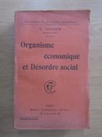 Anticariat: C. Colson - Organisme economique et desordre social
