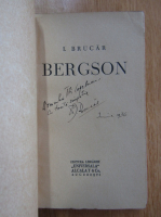 Anticariat: Iosif Brucar - Bergson (cu autograful autorului)