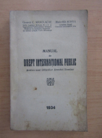 Anticariat: C. Manolache - Manual de drept international public