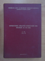Anticariat: Repertoriul graficii romanesti din secolul al XX-lea (volumul 3, L-O)