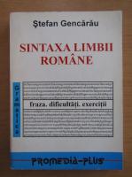 Stefan Gencarau - Sintaxa limbii romane