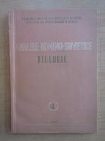 Anticariat: Analele romano-sovietice. Biologie, nr. 4, 1957