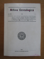 Anticariat: Arhiva Genealogica, anul III, nr. 3-4, 1996