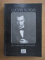Anticariat: Lucian Blaga - Din activitatea diplomatica (volumul 2)