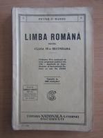 Anticariat: Petre V. Hanes - Limba romana pentru clasa IV-a secundara