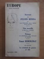 Anticariat: Revista Europa, nr. 389, septembrie 1961