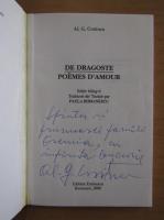 Anticariat: Al. G. Croitoru - De dragoste (editie bilingva, cu autograful autorului)