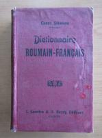 Anticariat: Constantin Saineanu - Dictionnaire roumanin-francais