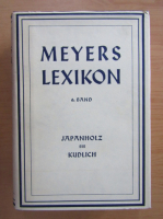 Anticariat: Meyers Lexikon, volumul 6. Japanholz bis Kudlich