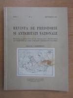 Anticariat: Revista de preistorie si antichitati nationale, anul I, nr. 1, septembrie 1937