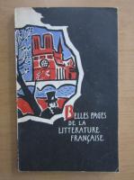Belles pages de la litterature francaise