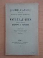 E. Humbert - Conseils pratiques aux eleves de mathematiques