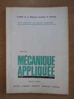 Anticariat: Revista Mecanique appliquee, tomul 25, nr. 5, septembrie-octombrie 1980