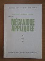 Anticariat: Revista Mecanique appliquee, tomul 31, nr. 1, ianuarie-februarie 1986