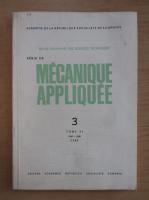 Anticariat: Revista Mecanique appliquee, tomul 31, nr. 3, mai-iunie 1986