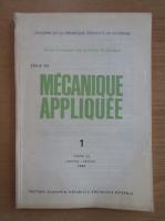 Anticariat: Revista Mecanique appliquee, tomul 33, nr. 1, ianuarie-februarie 1988