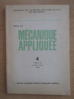 Anticariat: Revista Mecanique appliquee, tomul 33, nr. 4, iulie-august 1988