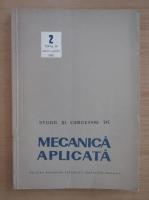 Anticariat: Studii si cercetari de mecanica aplicata, tomul 39, nr. 2, martie-aprilie 1980