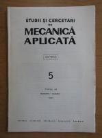 Anticariat: Studii si cercetari de mecanica aplicata, tomul 40, nr. 5, septembrie-octombrie 1981
