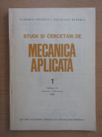 Anticariat: Studii si cercetari de mecanica aplicata, tomul 47, nr. 1, ianuarie-februarie 1988