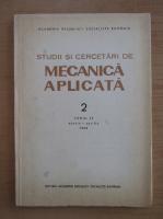 Anticariat: Studii si cercetari de mecanica aplicata, tomul 47, nr. 2, martie-aprilie 1988