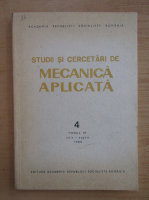 Anticariat: Studii si cercetari de mecanica aplicata, tomul 47, nr. 4, iulie-august 1988