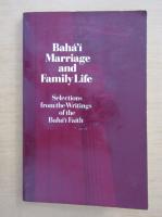 Anticariat: Baha'i Marriage and Family