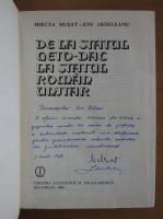 Anticariat: Mircea Musat - De la statul geto dac la statul roman unitar (cu autograful autorului)