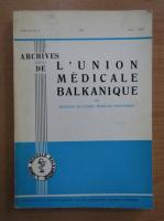 Archives de L'Union Medicale Balkanique, volumul 9, nr. 3, mai-iunie 1971