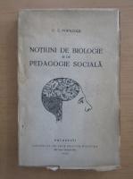 C. Z. Popazolu - Notiuni de biologie si de pedagogie sociala