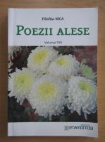 Anticariat: Filoftia Nica - Poezii alese (volumul 8)