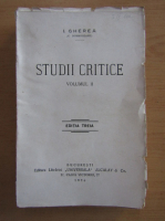 Anticariat: I. Gherea - Studii critice (volumul 2)