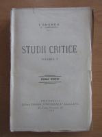 I. Gherea - Studii critice (volumul 5)