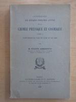 Svante Arrhenius - Conferences sur quelques problemes actuels de la chimie, physique et cosmique