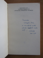 Anticariat: Alexandru Dutu - Cultura romana in civilizatia europeana moderna (cu autograful autorului)