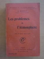 Alphonse Berget - Les problemes de l'Atmosphere
