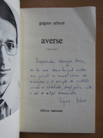 Anticariat: Grigore Arbore - Averse (cu autograful autorului)