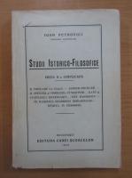 Ioan Petrovici - Studii istorico-filosofice