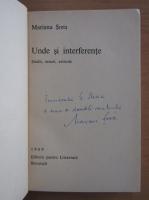 Anticariat: Mariana Sora - Unde si interferente (cu autograful autorului)
