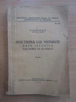 Anticariat: N. Mironescu - Doctrina lui Monroe
