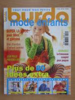 Revista Burda mode enfants, 2001