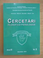 Anticariat: Revista Cercetari filosofico-psihologice, anul II, nr. 2, decembrie 2010