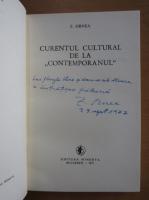 Z. Ornea - Curentul cultural de la Contemporanul (cu autograful autorului)