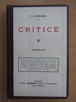 Anticariat: Eugen Lovinescu - Critice (volumul 7)
