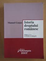 Manuel Gutan - Istoria dreptului romanesc