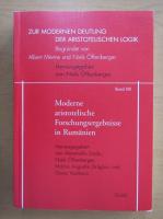 Anticariat: Moderne aristotelishe Forschungsergebnisse in Rumanien (volumul 13)