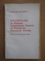 Anticariat: Nicolae Ceausescu - Cuvantare la Plenara Comitetului Central al Partidului Comunist Roman din 14-15 octombrie 1980